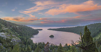 Emerald Bay Photograph - Emerald Sunset by Jeremy Jensen