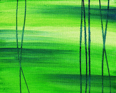 Abstract Pattern Painting - Emerald Flow Abstract IIi by Irina Sztukowski