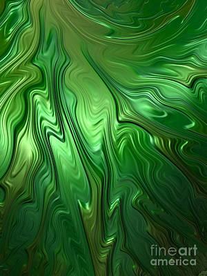 Fantasy Digital Art - Emerald Flow by John Edwards