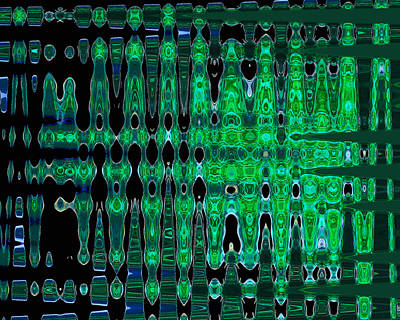 Digital Art - Emerald Frequency by Ginny Schmidt
