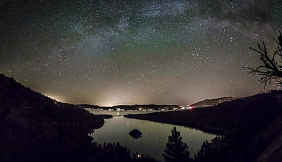 Emerald Bay Photograph - Emerald Galaxy by Jeremy Jensen