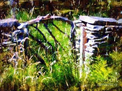 Stone Masons Photograph - Emerald Garden Gate by Janine Riley