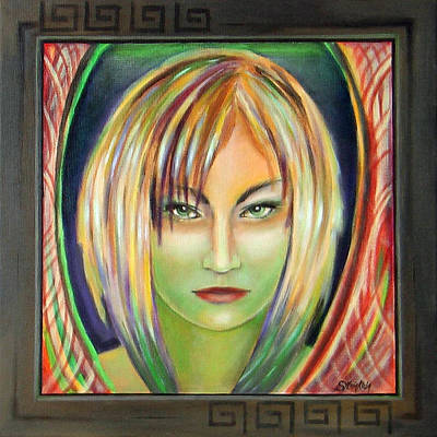 Woman Painting - Emerald Girl by Sylvia Kula