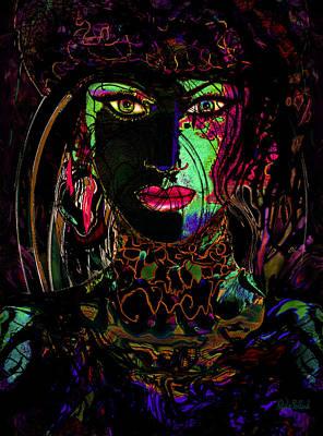 Emerald Goddess Art Print by Natalie Holland