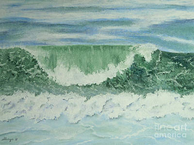 Constance Widen Painting - Emerald Green by Stanza Widen