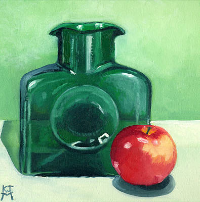 Painting - Emerald Greens And Apple by Katherine Miller