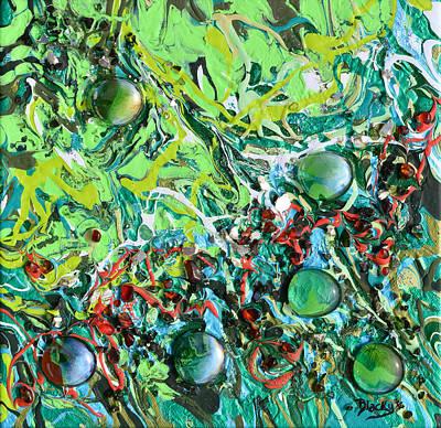Glass Art Painting - Emerald Isle by Donna Blackhall