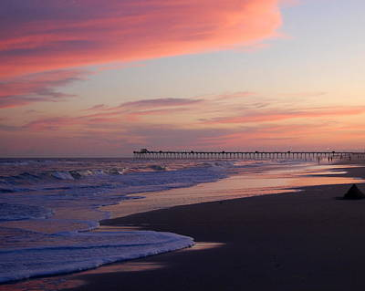 Emerald Isle Pier Original by Mim White