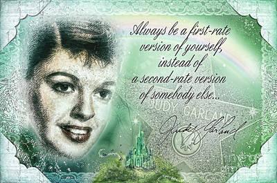 Judy Garland Painting - Emerald Judy by Mo T