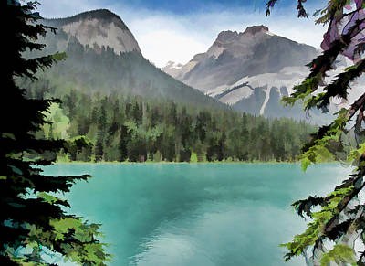 Digital Art - Emerald Lake by Rich Stedman