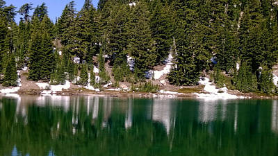 Photograph - Emerald Lake by Richard Verkuyl