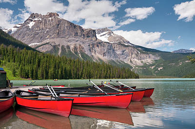 Oar Photograph - Emerald Lake by Steven Olmstead Photography