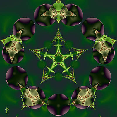 Jim Pavelle Fine Art Digital Art - Emerald Pentagram by Jim Pavelle