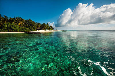 Photograph - Emerald Purity. Kuramathi Resort. Maldives by Jenny Rainbow