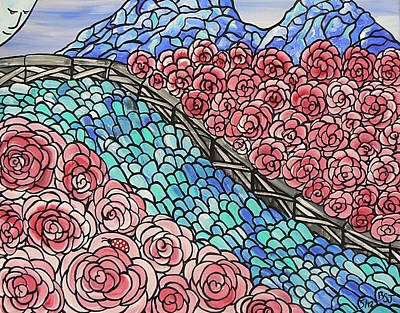 Painting - Emerald River Roses by Barbara St Jean
