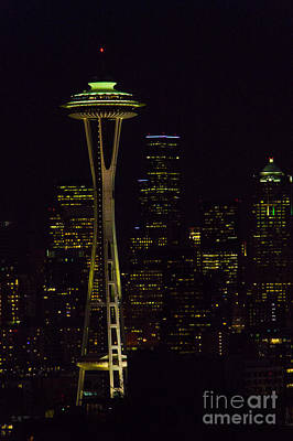 Photograph - Emerald Space Needle by Louise Magno