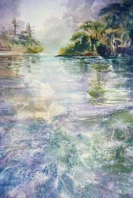 emerald Stream Art Print by Patrice Pendarvis