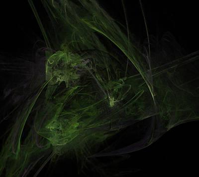 Digital Art - Emerald Triad by Betsy Jones