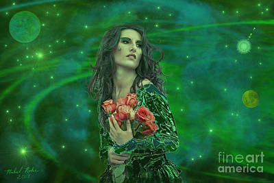 Emerald Universe Art Print
