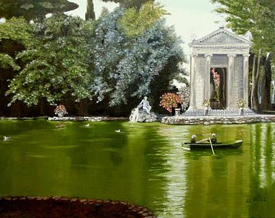 Borghese Painting - Emerald Waters by Janet Guss