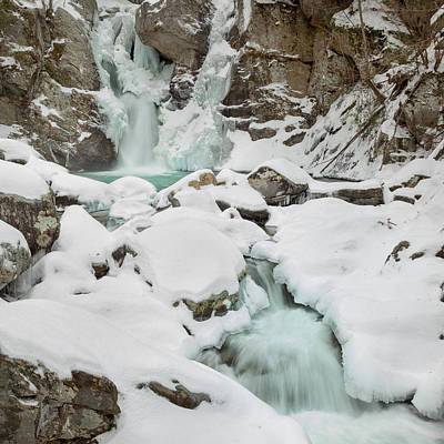 Bash Bish Falls Photograph - Emerald Waters Square by Bill Wakeley