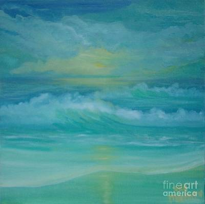 Emerald Waves Art Print by Holly Martinson