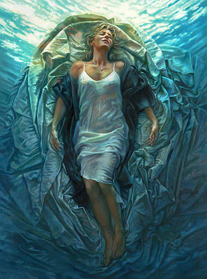 Religious Painting - Emerge Lighter Version by Mia Tavonatti