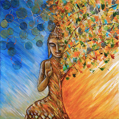 Buddhist Painting - Emerge by Roy Guzman