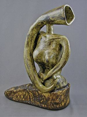 Sculpture - Emergence - Golda Meir by Mario MJ Perron