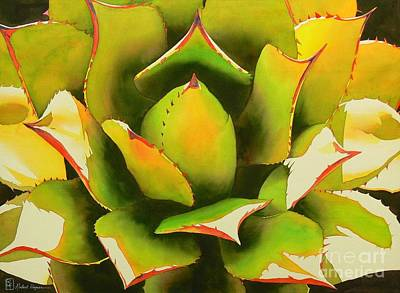 Agave Painting - Emergence by Robert Hooper