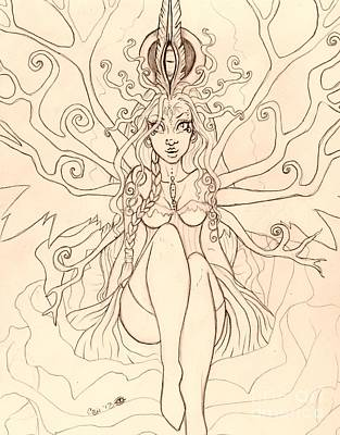 Emergence Sketch Art Print