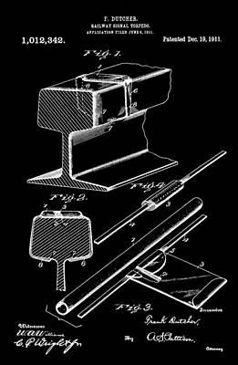Digital Art - Emergency Railway Patent by Dan Sproul