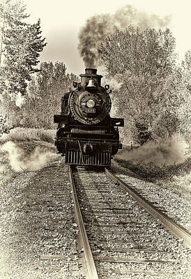 Locomotive Photograph - Emerging From The Past by Marcia Colelli