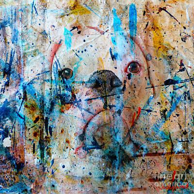 Boxer Dog Digital Art - Emerging by Judy Wood
