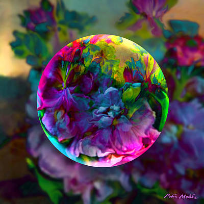 Old-fashioned Digital Art - Emerging Spring  by Robin Moline