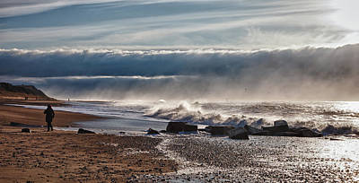 Braking Photograph - Emerging Storm At Bovbjerg Beach In Denmark by Frank Bach