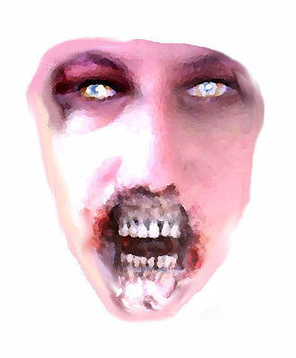 Digital Art - Emerging Zombie by Lee Farley