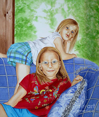 Painting - Emi And Mackenzie by Debbie Hart