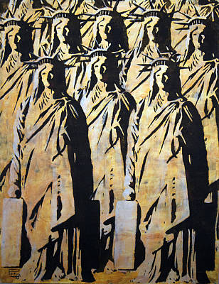 Emigration Liberty Art Print by Piotr Betlej