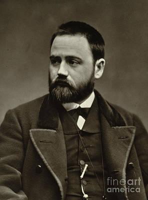Lapel Photograph - Emile Zola by Etienne Carjat