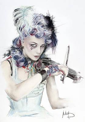 Violinist Painting - Emilie Autumn by Melanie D
