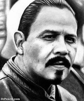 Sons Of Anarchy Drawing - Emilio Rivera As Marcus Alvarez by Rick Fortson