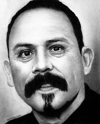 Alvarez Drawing - Emilio Rivera - Marco Alvarez by Rick Fortson