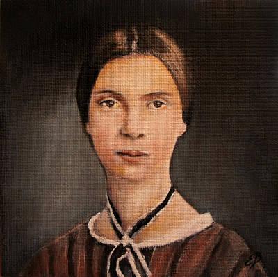 Oil Painting - Emily Dickinson  by Elizabeth Barrett