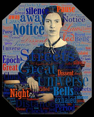 Digital Art - Emily Dickinson by Eric Edelman