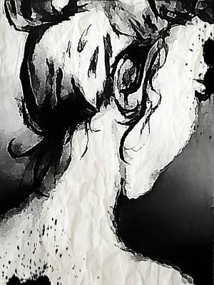 Hair Bun Mixed Media - Emily In Ink by Victoria Fischer