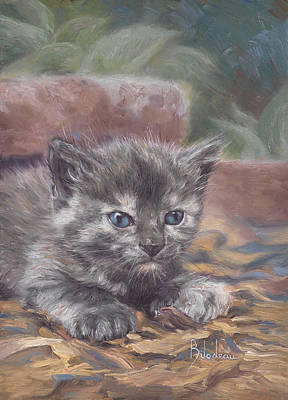 Kitten Wall Art - Painting - Emily by Lucie Bilodeau