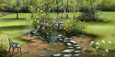 Emily's Garden Original by Cecilia Brendel