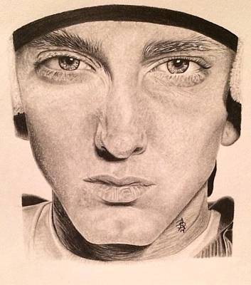 Drawing - Eminem by Angelee Borrero