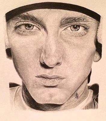 Drawing - Eminem by Angelee Borrero
